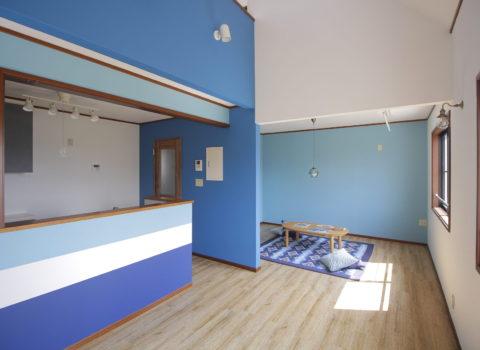 (中古住宅リノベ施工事例)西海岸風デザイン住宅
